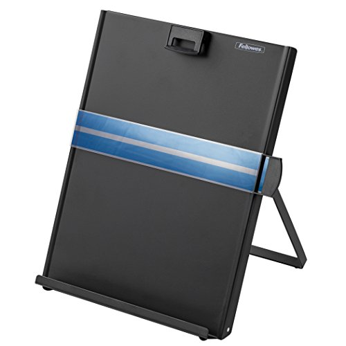 Fellowes Kopy-Aid Black Letter Copyholder - Metal Copyholder Fellowes