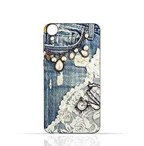 HTC Desire 820 TPU Silicone Case with Modern Jeans Pattern