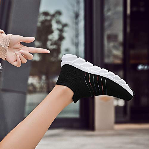 Mesh Donna Nero In Leggere Scarpe Ginnastica Moda Corsa Passeggio Sneakers Da Morbide wtPCxCvqB7