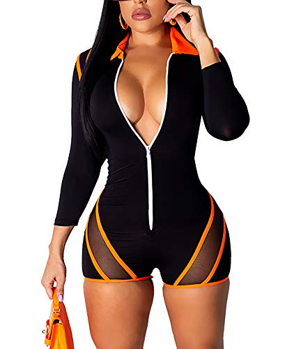VOIKERDR Women One Piece Outfits Tracksuit Jumpsuits Striped Sexy Bodycon Clubwear Jumpsuit Set