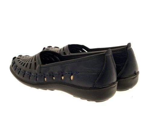 LD Outlet , Sandales pour femme Bleu Marine Nouveau