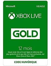Abonnement Xbox Live Gold 12 mois   Xbox Live - Code jeu à télécharger