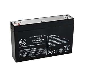 Batería de Luces de emergencia de 6V 7Ah Lithonia ELB0607 - Es un recambio de la marca AJC®
