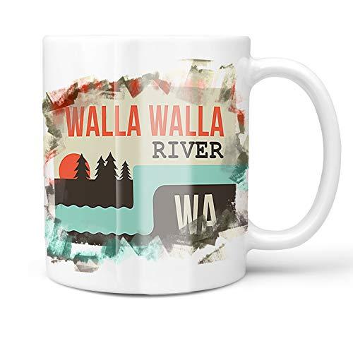 Neonblond 11oz Coffee Mug USA Rivers Walla Walla River - Washington with your Custom Name