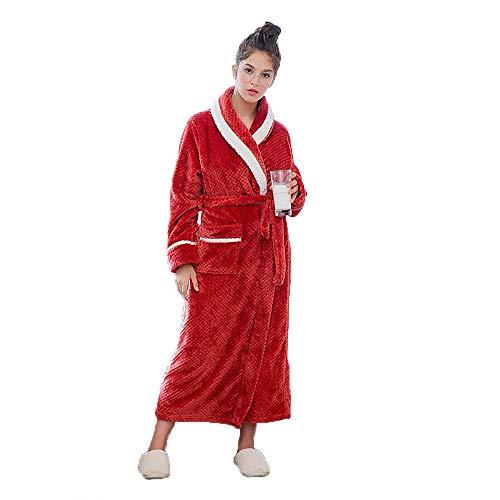 Toalla Suave Para Mujer Largo Batas A Red Servicio Domicilio Y Casuales Cinturones Franela Baño Moda De Lujo Bolsillos Albornoz Universal q4SxX4