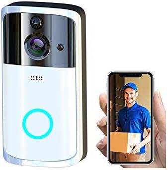 ワイヤレスチャイム ドアベル 720HD 可視ドアホンリアルタイムビデオ会話 ナイトビジョン機能 PIR動き検出 2.4G Wi-Fi対応 携帯コントロール可能