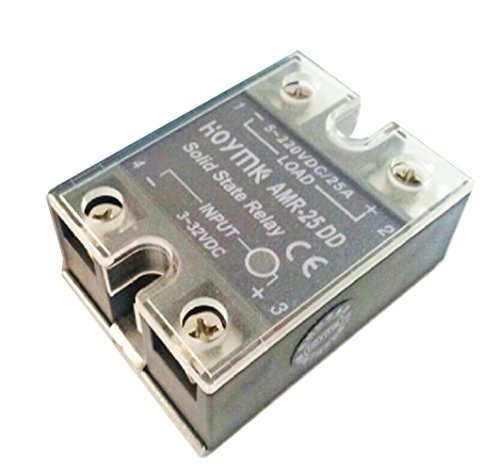 Hoymk DC-DC AMR-10/25/40/50/60/80A/DD Actually 3-32v Dc to 5-220v Dc Amr Single Phase Solid State Relay (AMR-25A) (3 Phase Solid State Relay 60 Amp)