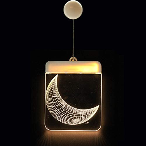 YLSMN Linterna decorativa de Navidad LED Batería Luz Campana Ciervo Cadena de luz Acrílico Tablero 3D Luz colgante lampara led: Amazon.es: Iluminación