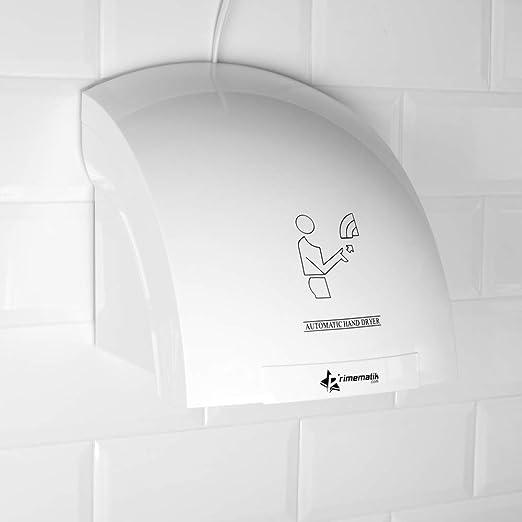 PrimeMatik - Secamanos eléctrico de pared. Secador de manos automático de aire caliente 1800W: Amazon.es: Electrónica