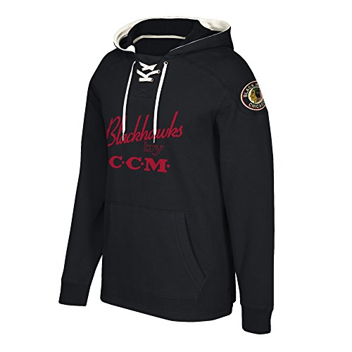 adidas NHL Chicago Blackhawks Centennial CCM Tacks Pullover Hockey Hood, Large, ()