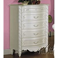 ACME 01016 Pearl Chest, Pearl White Finish