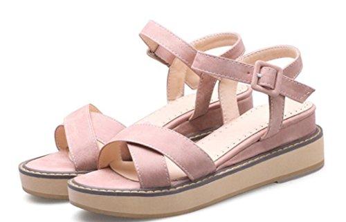 De 5cm Señoras Las Flat 39 Universidad Pink 34 Confortable Colores Viento Verano 33 Sandalias 41 Xie Ocio Estudiantes Cuatro Bottom xfwtngq