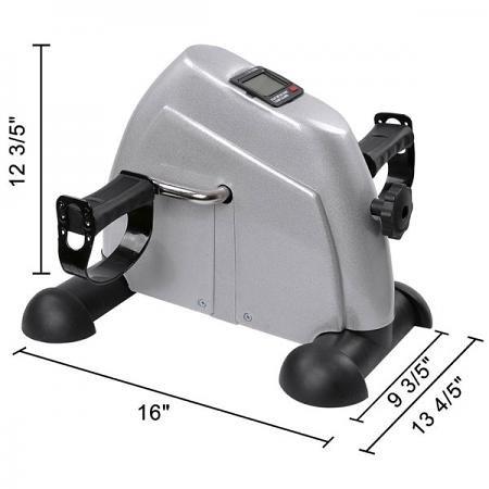 Portable Pedal Excise Machine: Mini Arm & Leg Workout (Silver) by ShopOC