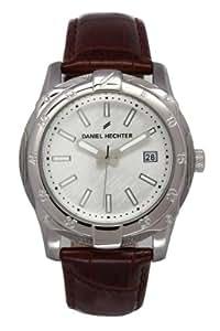 Daniel Hechter Men`s silver Dial Leatherette Band Watch [DHH 006/FU]