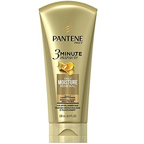 Pantene Pro-V 3 Minute Miracle Moisture Renewal Deep Conditioner, 6 Ounce (3-Pack) (Pantene 3 Minute Miracle Moisture Renewal Deep Conditioner)
