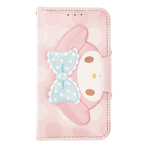 iPhone 8 Plus/iPhone 7 Plus Case My Melody Cute Diary Wallet Flip Mirror Cover for [ iPhone 8 Plus/iPhone 7 Plus ] Case - Face Button My Melody Pink ()