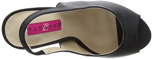Pleaser Pink Label Eve-04 - Plataforma Mujer Black (Blk Faux Leather)