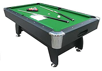 Wonderful Buy Play In The City Pool Table 8Ft. X 4Ft Green American Style Billiard  Online At Low Prices In India   Amazon.in