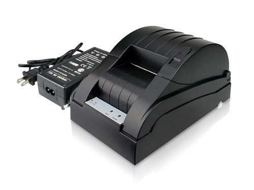 1 X USB POS Thermal Printer (Black, Paper width 58mm, Compatible ESC/POS Command, Built-in data buffer) by Zenhon
