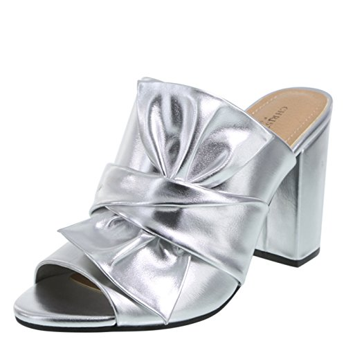 Silversmooth Siriano Mule Reece for Christian Women's Payless Bow 0wgFdqA