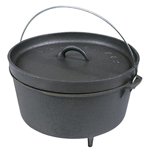 - Stansport Cast Iron 8 Quart Dutch Oven