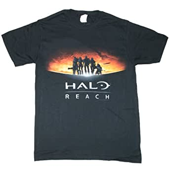 Halo Reach Silhouette And Moon Mens S/S Tee (2XL)