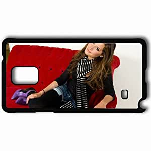 Personalized Samsung Note 4 Cell phone Case/Cover Skin Ashley Tisdale Black