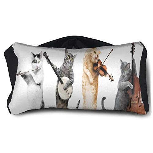 Eye Pillow Funny Cat Music Customized Mens Portable Blindfold Sleeping Eye Bag Patch