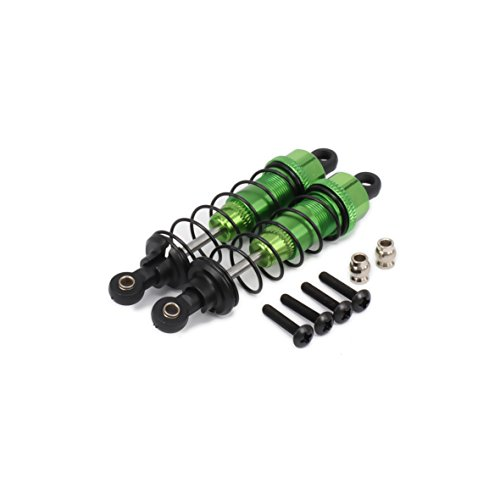 Price comparison product image RCAWD Shock Absorber Damper F103004 85mm Oil Adjustable Alloy Aluminum for Rc Car 1 / 10 Upgraded Hop-Up Parts HPI HSP Traxxas Losi Axial Tamiya Redcat Himoto Losi 2Pcs(Green)