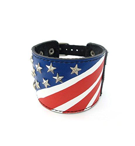 UCCOK American flag bracelet cool man titanium stainless steel wrist by UCCOK