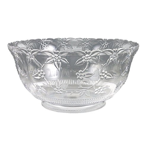 Crystalware Maryland Plastics Large Punch Bowl, 12 quart, Clear ()