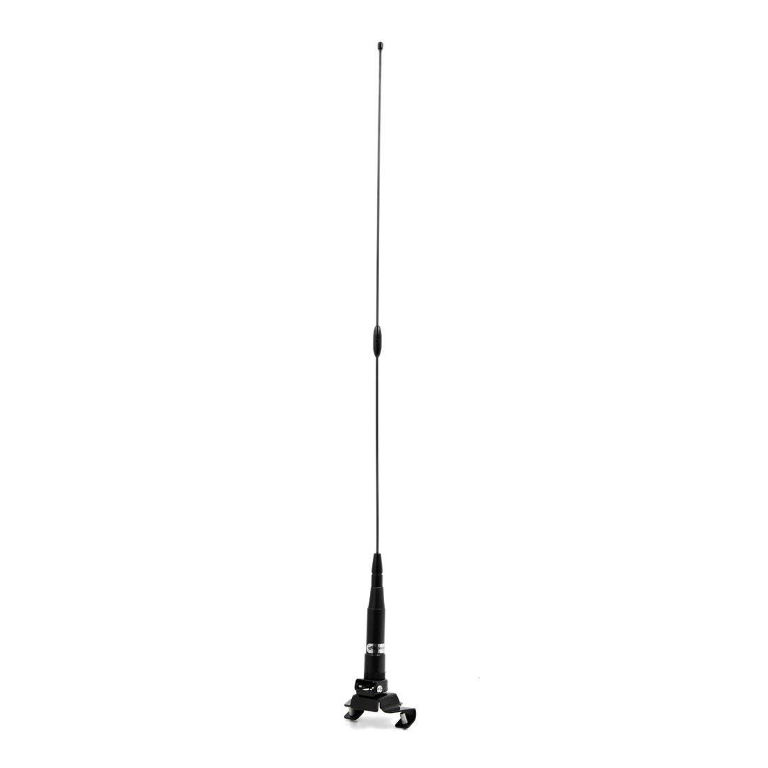 uxcell Black 60cm Length Adjustable Angle Screw Fixing Car Decorative Antenna