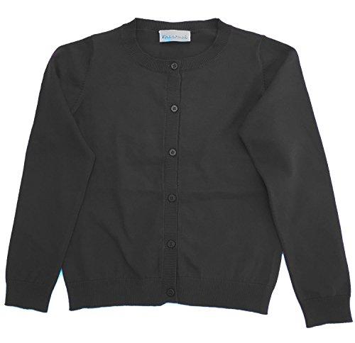 Hollywood Star Fashion Khanomak Kids Girl Crew Neck Cardigan Sweater (Sizes 3T- 14 Yrs)