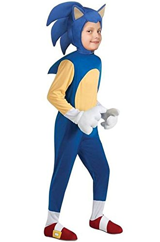 [Mememall Fashion Sonic the Hedgehog Deluxe Child Halloween Costume] (Scarlett O Hara Halloween Costumes)