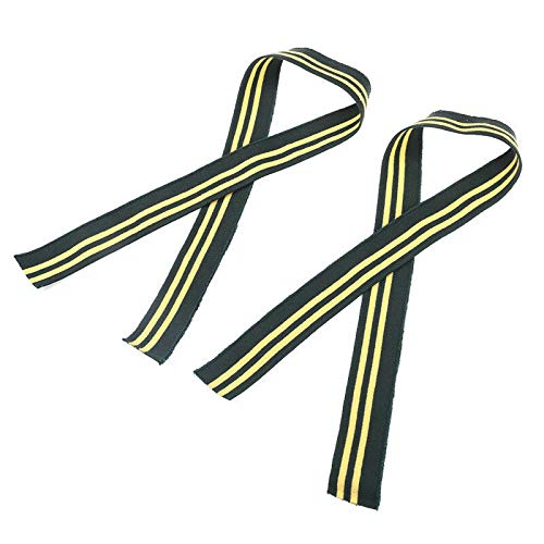 (2 Pcs Cotton Stripe Knit Trimming Fabric for Jacket Waistbands Cuffs Collar Hem (Color - #8))