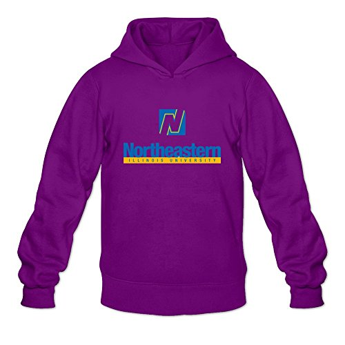 Tavil Northeastern Illinois University Long Sleeve Hoodies For Men Purple Size Large