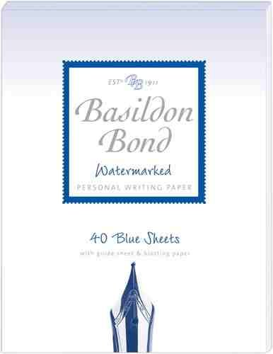 Amazon Com Basildon Bond No 2 Blue Paper Writing Set Includes
