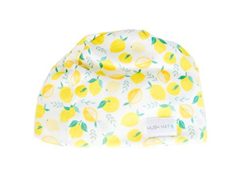 Hush Baby Hat with Softsound Technology and Medical Grade Sound Absorbing Foam, Lemonade/Small