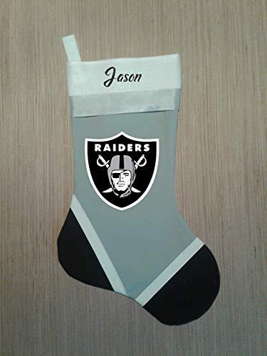 Oakland Raiders Personalized Christmas Stocking