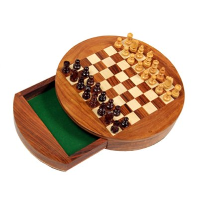 India big shop wood Chess Staunton Set with storage compartment & Green Felted Foam Case Classic Game