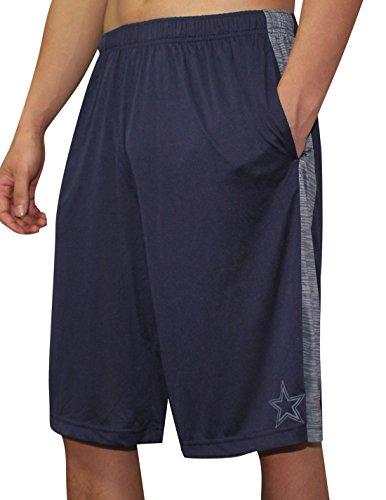 DALLAS COWBOYS NFL Mens Dri-Fit Sport Shorts S Dark Blue (Dallas Cowboys Shorts)