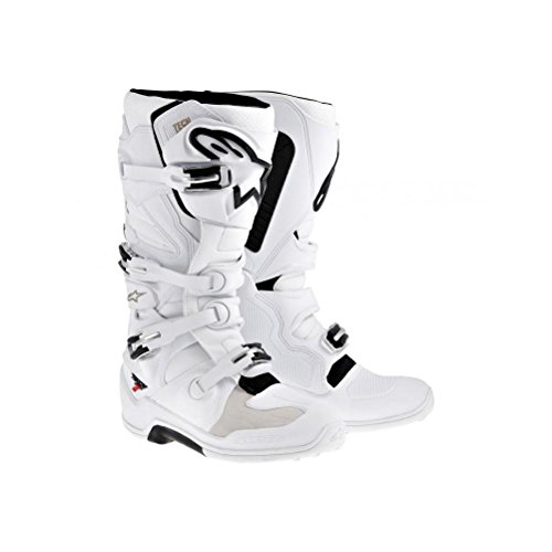 Alpinestars Tech 7 Men's Motocross Motorcycle Boots - White / Size 12