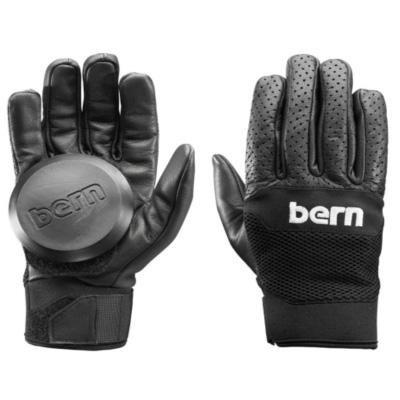BERN Unlimited Leather Haight Longboard Glove, Black, Small/Medium