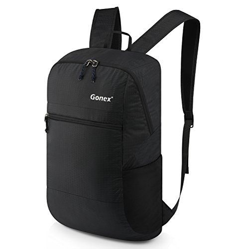 Gonex 30L Packable Lightweight Travel Hiking Backpack Daypack Black by Gonex