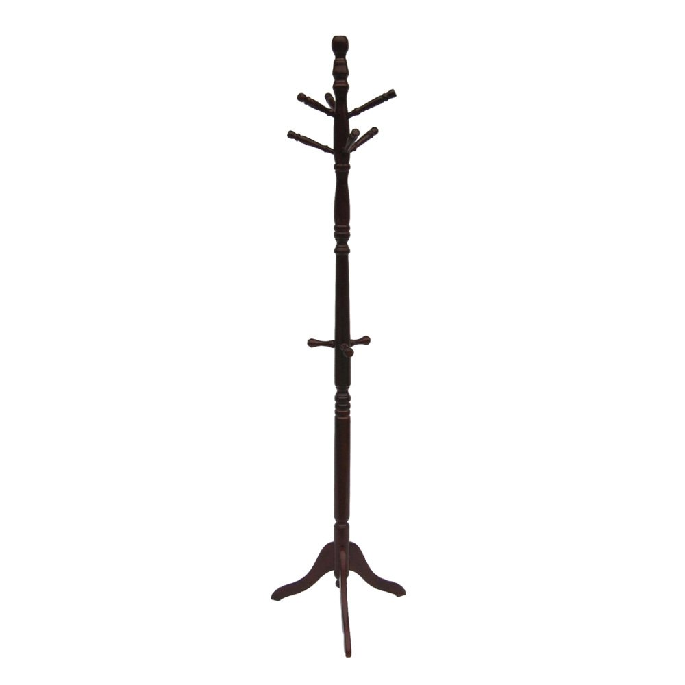 Home Source Industries AF9709 Coat Stand, Mahogany