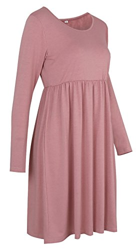 Twippo Women's Long Sleeve Swing Dress