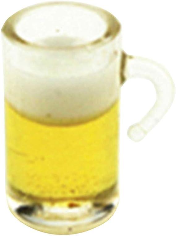 6 Teile Puppenhaus Miniatur transparent Bier Becher Küche 1:12 Kinder Geschenk