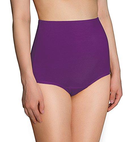 Innersy Women's 3-Pack High Waisted Full Brief Panties Underwear (XL, 3 Purple)