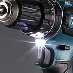 Makita-DHP485Z-DHP485Z-Trapano-Avvitatore-a-percussione-18-V-Batteria-Caricatore-Non-Incluso-Nero-Blu-Size