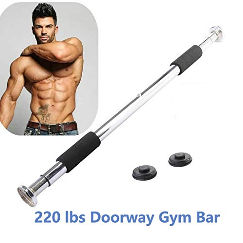 MYEDO Adjustable Pull-Up Bar, Doorway Chin up Bar Heavy Duty Home Fitness Door Exercise Bar Non Slip Heavy Duty Up To…